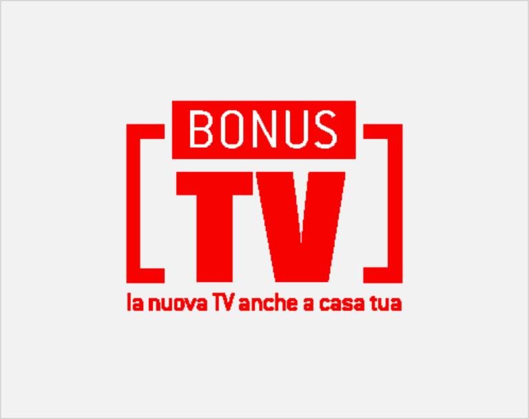 Logo Bonus TV  che identifica la possibilità offerta dal Ministero dello sviluppo economico di richiedere, se si hanno determinati requisiti di reddito, uno sconto di 50 euro sul prezzo di vendita del nuovo televisore o del decoder esterno.